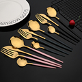 24Pcs New Green Gold Cutlery Set Mirror Dinnenrware Set Stainless Steel Flatware Dinner Knife Fork Spoon Teaspoon For Home preview-3