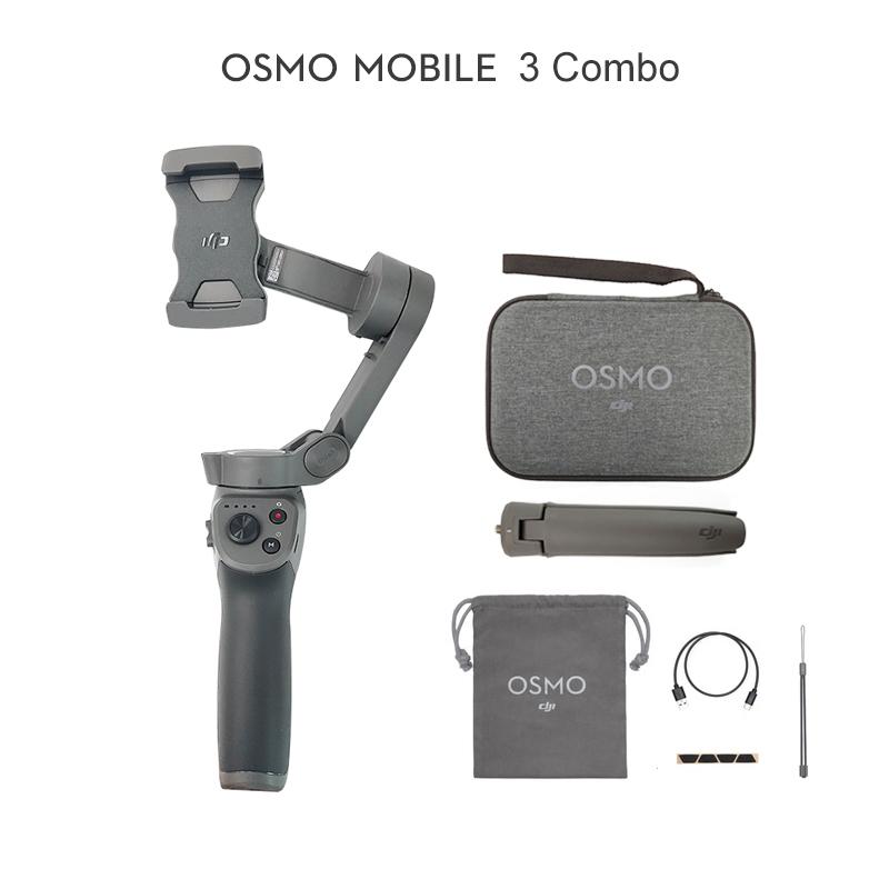 קנו מצלמות, אביזרים וחלקים למצלמה   DJI Osmo Mobile 3/Osmo Mobile 3 Combo  is a foldable gimbal for smartphones with intelligent functions In stock