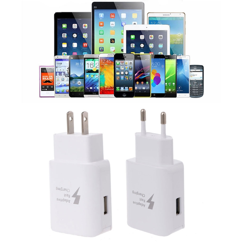 Adaptive Fast Charging USB Travel Wall Charger EU/US Plug For Galaxy S8 Mobile Phone Chargers