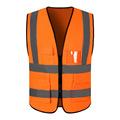 orange fabric pocket