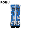 FORUDESIGNS New Women Socks Multicolor pattern Print on demand Breathable Sweat Non-slip  Outdoor Sport Hikking Running Socks preview-2