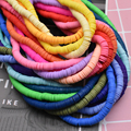 6mm 400pcs/lot DIY Jewelry Findings Polymer Clay Beads Rubber Spacer Beads For Boho Jewelry Making Bracelet Accessory preview-5