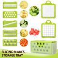 Vegetable Cutter Vegetable Slicer Fruit Peeler Grater for Vegetables Chopper Multi Drain Basket 8 In 1 Kitchen Gadgets preview-2