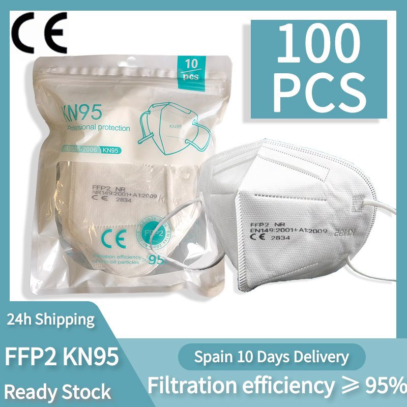 100 Pieces CE FFP2 Mask 5 Layers KN95 Dust Masks Face Protective FFP2 Mascarillas Filter Respirator FFP3 FPP3 Reusable
