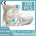 100 Pieces CE FFP2 Mask 5 Layers KN95 Dust Masks Face Protective FFP2 Mascarillas Filter Respirator FFP3 FPP3 Reusable preview-1