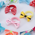 10Pcs Polka Dots Bow Hair Ring Rope Elastic Hair Rubber Bands Hair Accessories for Girls Hair Tie Ponytail Holder Headdress preview-3