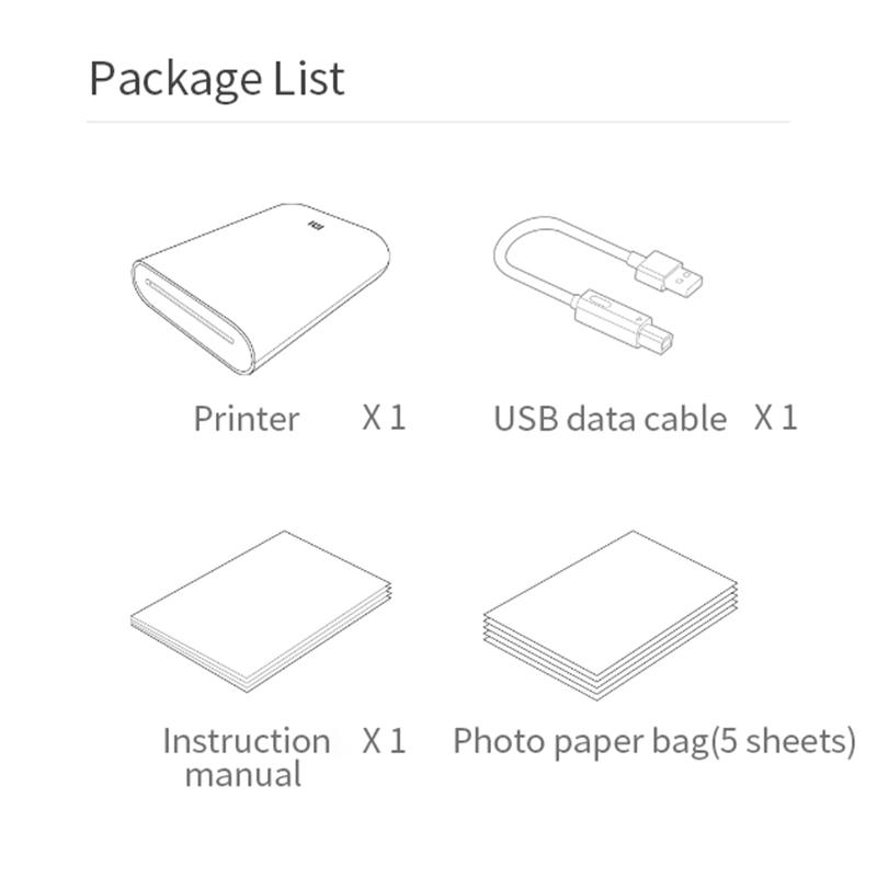 Global Version Xiaomi mijia AR Printer 300dpi Portable Photo Mini Pocket With DIY Share 500mAh picture pocket printer preview-6