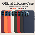 Official Original Silicone Case for Apple iPhone 13 12 Pro Max XS XR 7 8 6S Plus 11 Mini iPhone12 Brand Logo Phone Cover Funda preview-2
