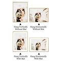 Modern Gold Aluminum Photo Pictures Frames 40x50 30x40cm A4 21x30 cm Wall Mounting with Mat for Poster Canvas Prints Home Decor preview-6