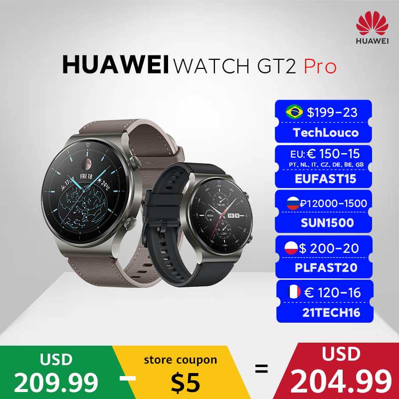 In stock Global Version HUAWEI Watch GT 2 pro SmartWatch 14 days Battery Life GPS Wireless Charging  Kirin A1 GT2 Pro preview-2