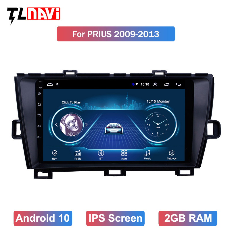 Android 10 For Toyota Prius 2009 2010 2011 2012 2013 Multimedia Stereo Car DVD Player Navigation GPS Radio