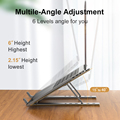 Portable Laptop Stand Aluminium Foldable Notebook Support Laptop Base Macbook Pro Holder Adjustable Bracket Computer Accessories preview-3