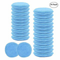 24PCS 5inch Car Waxing Sponge Blue Round Applicator Easy Cleaning Leather Polish Pad Foam Microfiber Universal Washable Reusable preview-1