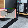 1M Soft Adjustable Hook And Loop Office Desk Wire Cable Cover For Floor/Carpet/Trunk/Desk Office Supplies preview-2