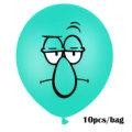 10Pcs Sponge Party Supplies Boy or Girl Bob Latex Balloons Happy Birthday Cartoon Theme Decoration Kids Ballon Party Decor preview-5