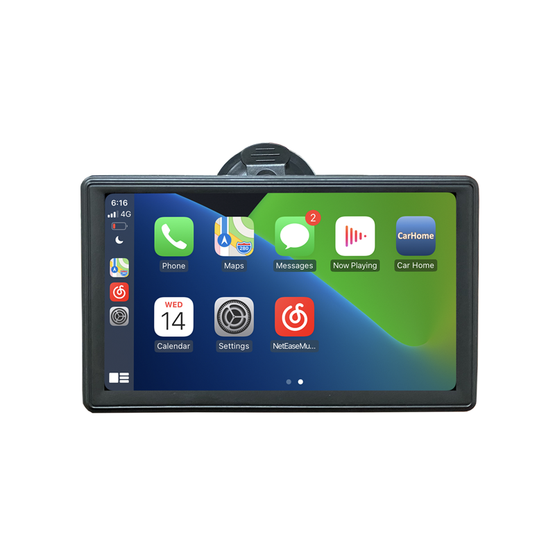 Portable Apple CarPlay Android Auto Monitor AirPlay Phone Mirror Link Display for Car Bus SUV Pickup Taxi Truck Lorry Van MPV preview-2