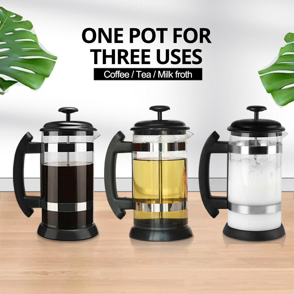 French Press Coffee/Tea Brewer Coffee Pot Coffee Maker Kettle 1000ML Stainless Steel Glass Thermos For Coffee Drinkware preview-7