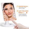 LED Makeup Mirror Illuminated Cosmetic Table Mirror With Light for Make Up Adjustable Light 16/22 Touch Screen Eyelash Brush preview-2