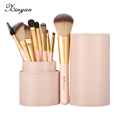 XINYAN Candy Makeup Brush Set Pink Blush Eyeshadow Concealer Lip Cosmetics Make up For Beginner Powder Foundation Beauty Tools preview-1