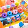 Sharkbang 4PCS Kawaii Ice Cream Hamburger Lollipop Detachable Rubber Eraser For Kids Gift Correction Tool School Stationery preview-1