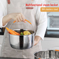Stainless Steel Kitchen Steam Basket Pressure Cooker Anti-scald Steamer Multi-Function Fruit Cleaning Basket Cookeo Accessories preview-2