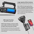 Powerful LED Flashlight Portable XHP70.2 Torch USB Rechargeable Searchlight Waterproof Spotlight with Base Fishing Light Lantern preview-5