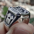 Vintage Sun Stars Skull Rings for Men Steam Punk AG Masonic Freemasonry Men's Rings Party Jewelry Gift preview-5