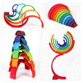 Baby Toys Large Rainbow Stacker Wooden Toys For Kids Creative Rainbow Building Blocks Montessori Educational Toy Children preview-6