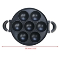 7-Hole Cake Cooking Pan Cast Iron Omelette Pan Non-Stick Cooking Pot Breakfast Egg Cooking Pie Cake Mold Kitchen Cookware Tool preview-6