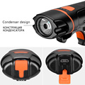 ROCKBROS Bicycle Front Light Waterproof 6 Light Modes Bike LED Lights 250 Lumens USB Rechargeable Cycling MTB Safety Flashlight preview-4