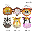 New! Wild One Birthday Party Balloons Jungle Safari Party Forest Decoration Kids First 1st Birthday Safari Jungle Party Supplies preview-6