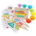 Wooden Beads Game Montessori Educational Early Learn Children Clip Ball Puzzle Preschool Toddler Toys Kids For Children Gifts preview-3