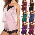 2020 New Women Summer Sexy Pyjamas Set Nightwear Lingerir Pjs Satin Silk Soft Sleepwear Sleepsuit preview-2