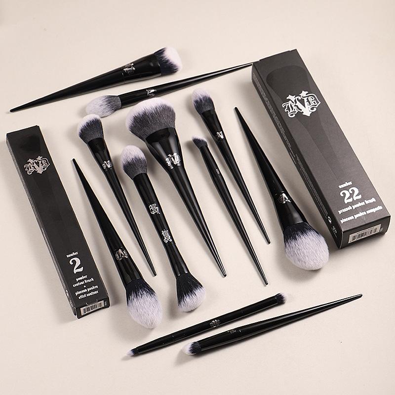 10Pcs Makeup Brushes Set Cosmetic Foundation Powder Blush Eye Shadow Blending Concealer Beauty Kit Make Up Brush Tool Maquiagem