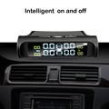 HGDO Seguridad del automóvil Sistema de alarma de presión de los neumáticos Energía solar Pantalla digital Smart Car TPMS Sistem preview-6