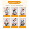 Kangarouse Ergonomic Baby Carrier Infant Kid Baby Sling Front Facing Kangaroo Baby Wrap Carrier for Baby Travel 0-36 Months preview-4