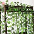 1Pc 230Cm Green Vine Silk Artificial Ivy Hanging Leaf Garland Plants Creeper Leaf Home Decor Wedding Bathroom Garden Decoration preview-4