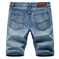 2020 Summer New Men's Denim Shorts Classic Black Blue Thin Section Fashion Slim Business Casual Jeans Shorts Male Brand preview-1