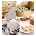 100/50 Pcs Air Fryer Steamer Liners Premium Perforated Wood Pulp Papers Non-Stick Steaming Basket Mat Baking Cooking Tools preview-3