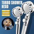 2021 Pressurized Nozzle Turbo Shower Head One-Key Stop Water Saving High Pressure Shower Head Magic Water Line Bathroom Accessor preview-3