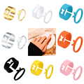 LATS Trendy Lover Star Moon Aircraft Cherry Dinosaur Mushroom Butterfly Rings for Women Men Couple Open Ring Set 2021 Jewelry preview-2