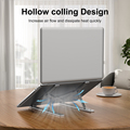 Portable Laptop Stand Aluminium Foldable Notebook Support Laptop Base Macbook Pro Holder Adjustable Bracket Computer Accessories preview-2