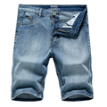 2020 Summer New Men's Denim Shorts Classic Black Blue Thin Section Fashion Slim Business Casual Jeans Shorts Male Brand preview-2