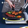 WORTHBUY 30cm Non-Stick Iron Saucepan Egg Pancake Pan For Breakfast Steak Omelette Frying Pan Kitchen Non-Stick Cookware Pan preview-3