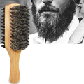 Men Boar Bristle Hair Brush - Natural Wooden Wave Brush for Male, Styling Beard Hairbrush for Short,Long,Thick,Curly,Wavy Hair preview-6