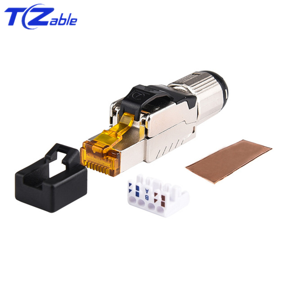 RJ45 Cat6A Cat7 Cat8 Ethernet Connectors Tool-Free Shielded Network Cable Adapter Internet Cable Extension Plug rj45 Terminal