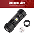 BORUiT RJ-020 XPE LED Induction Headlamp 1000LM Motion Sensor Headlight 18650 Rechargeable Head Torch Camping Hunting Flashlight preview-3