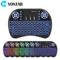 VONTAR Israel Hebrew English Language Mini Keyboard 2.4G i8  Wireless Mini Keyboard Touchpad Mouse Combo For Tv box mini pc ps3 preview-1