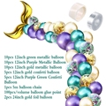 42Pcs Mermaid Balloon Arch Set Mermaid Tail Balloon Little Mermaid Party Decorations Supplies Wedding Girl Birthday Party Decor preview-4
