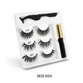 100 Pcs Eyelash Packaging Box Bulk Wholesale Custom 3D Mink Lashes Boxes Packaging With Logo Makeup Set Eyelashes Case Pack preview-3